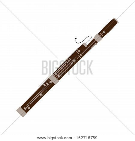 Bassoon icon isolated on white background. Musical instrument icon. Vector illustration.