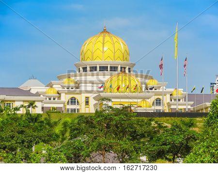 KUALA LUMPUR, MALAYSIA - JANUARY 12, 2014: National Palace or Istana Negara. Kuala Lumpur, Malaysia
