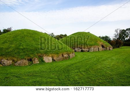 Small passage tombs such as these were constructed 4000 years ago making them among the oldest buildings in the world.