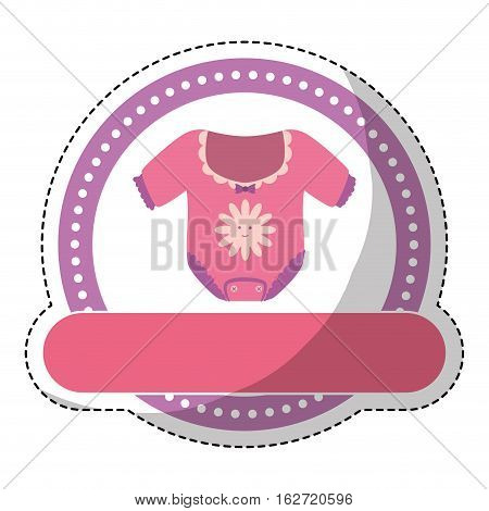 girl onesie baby shower related icon image vector illustration design