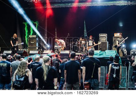 TOLMIN, SLOVENIA - JULY 25TH: AMERICAN DOOM METAL BAND NORTH PERFORMING AT METALDAYS FESTIVAL ON JULY 25TH, 2016 IN TOLMIN, SLOVENIA