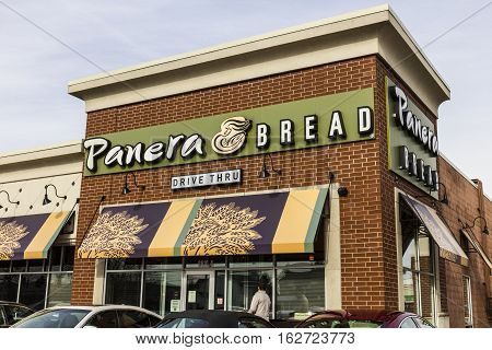 Indianapolis - Circa December 2016: Panera Bread Retail Location. Panera is a Chain of Fast Casual Restaurants Offering Free WiFi V