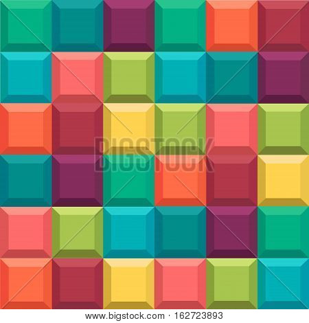 Material for design. Geometric background. Style Tetris game