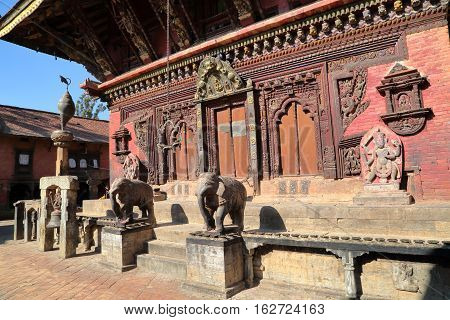 BHAKTAPUR, NEPAL: Changu Narayan Temple near Bhaktapur