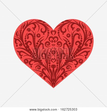 Suit Hearts Card Isolated On White