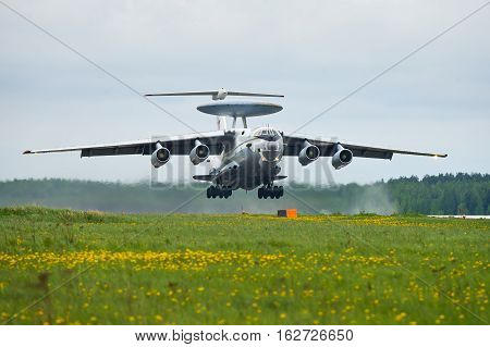 Ivanovo, Russia - May 20,2016: A-50's taking off.