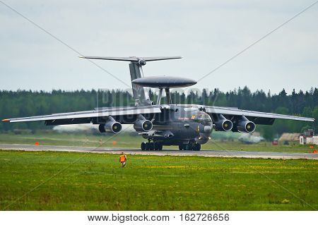 Ivanovo, Russia - May 20,2016: A-50U landing roll-out.
