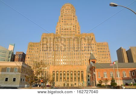 Buffalo City Hall, Art Deco Style building in downtown Buffalo, New York State, USA