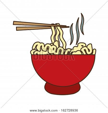 ramen noodles fast food related icon image vector illustration design