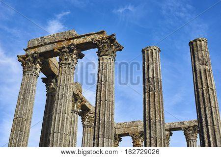 Diana Temple In Evora, Alentejo. Portugal.