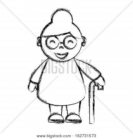 grandmother avatar character icon vector illustration design