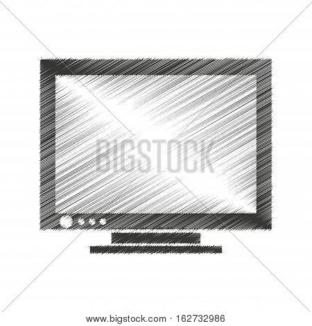 computer monitor isolated icon vector illustration design