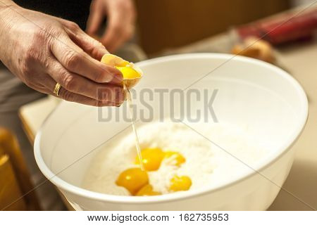 eggs and flour for home made sweets