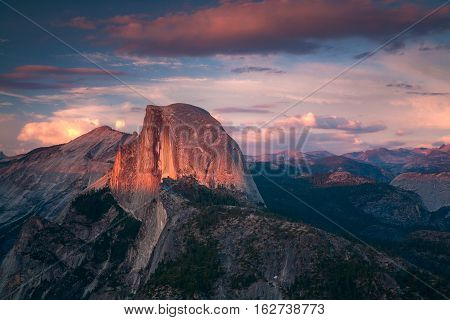 Yosemite National Park is in the California Sierra Nevada mountains.