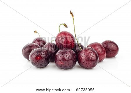 Cherry, cherry tree, red ripe cherries, cherry, leaf,