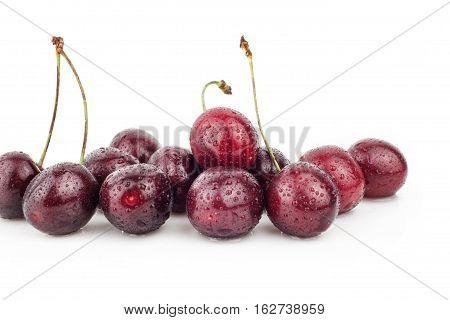 Cherry, cherry tree, red ripe cherries, food,
