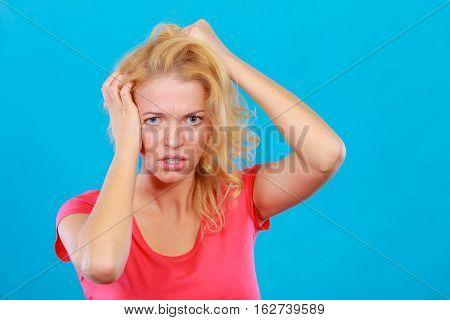 Scared, Terrified Woman In Fear In Eyes