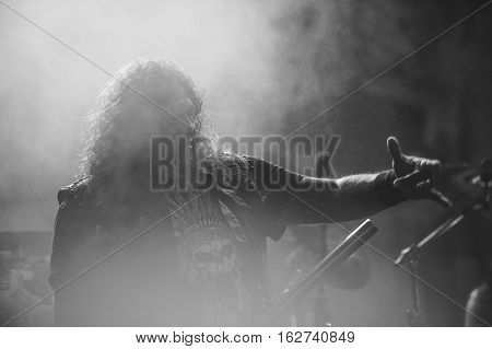 TOLMIN, SLOVENIA - JULY 25TH: AMERICAN THRASH METAL BAND TESTAMENT PERFORMING AT METALDAYS FESTIVAL ON JULY 25TH, 2016 IN TOLMIN, SLOVENIA