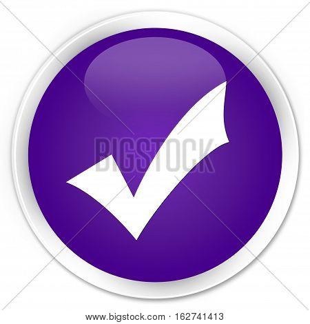 Validation Icon Premium Purple Round Button