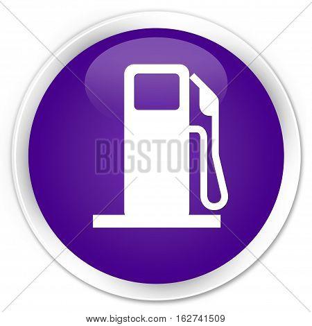 Fuel Dispenser Icon Premium Purple Round Button