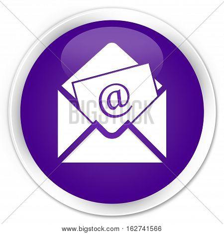 Newsletter Email Icon Premium Purple Round Button
