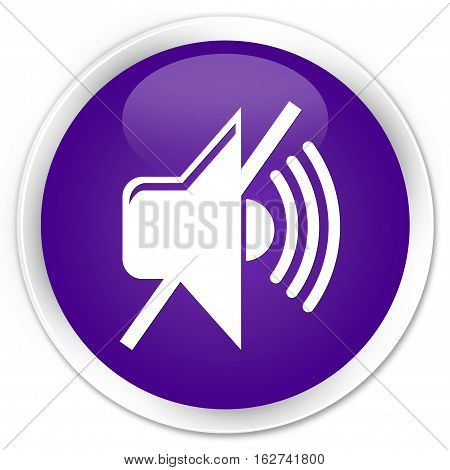 Mute Volume Icon Premium Purple Round Button