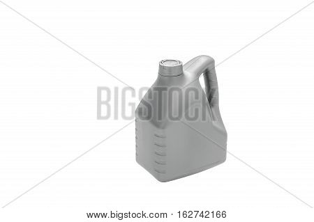 Plastic container isolated on white background. With reflections on the surface