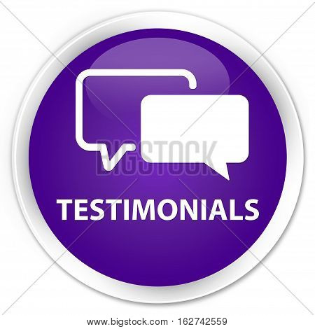 Testimonials Premium Purple Round Button