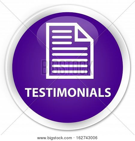 Testimonials (page Icon) Premium Purple Round Button