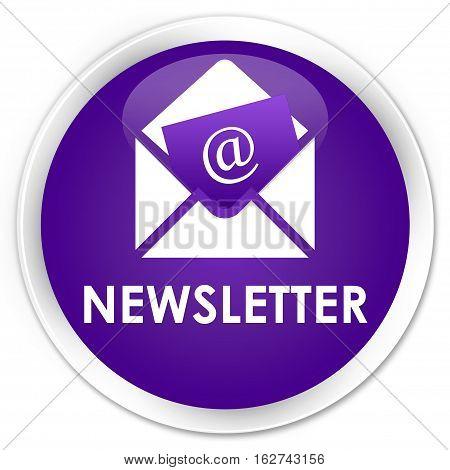 Newsletter Premium Purple Round Button