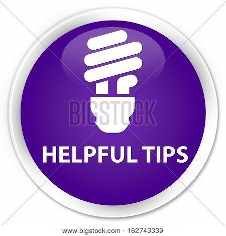 Helpful Tips (bulb Icon) Premium Purple Round Button