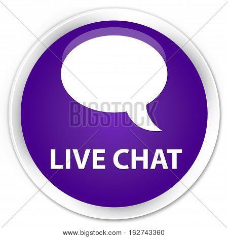 Live Chat Premium Purple Round Button