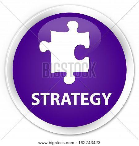 Strategy (puzzle Icon) Premium Purple Round Button