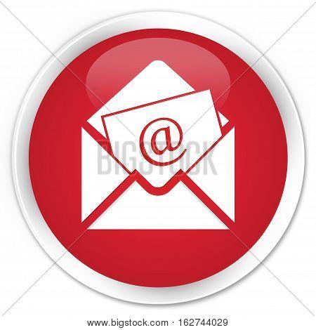 Newsletter Email Icon Premium Red Round Button