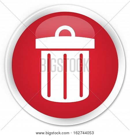 Recycle Bin Icon Premium Red Round Button