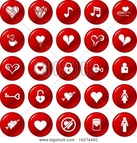 heart button set 2