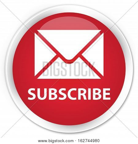 Subscribe (email Icon) Premium Red Round Button