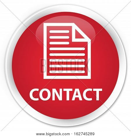 Contact (page Icon) Premium Red Round Button