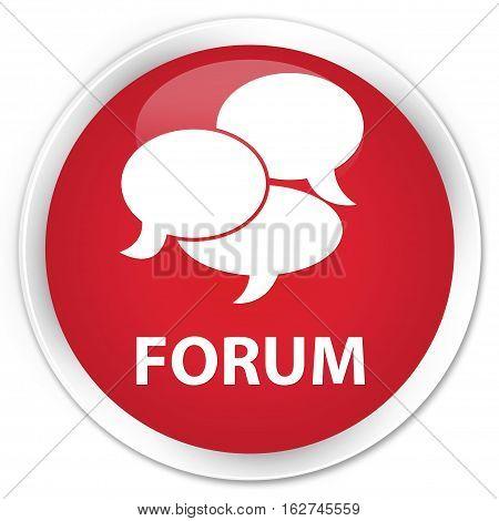 Forum (comments Icon) Premium Red Round Button
