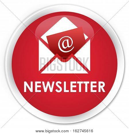 Newsletter Premium Red Round Button