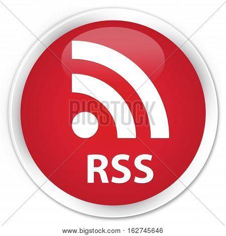 Rss Premium Red Round Button
