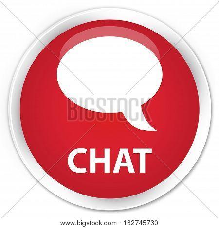 Chat Premium Red Round Button