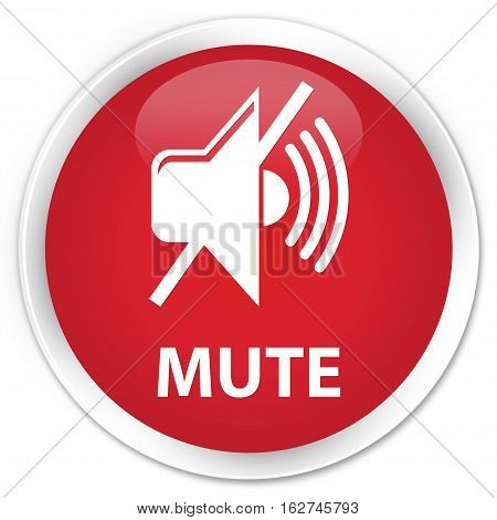 Mute Premium Red Round Button