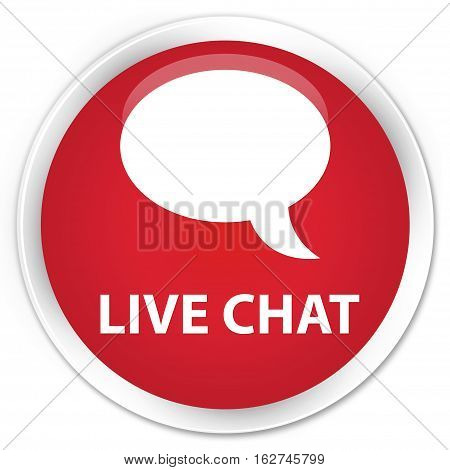 Live Chat Premium Red Round Button