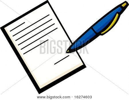 signing a document