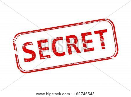 Rubber stamp with the word secret isolated from the background, vector illustration.