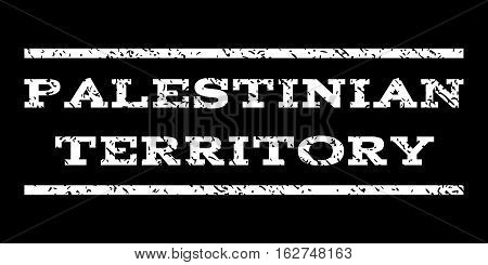 Palestinian Territory watermark stamp. Text caption between horizontal parallel lines with grunge design style. Rubber seal stamp with dust texture.