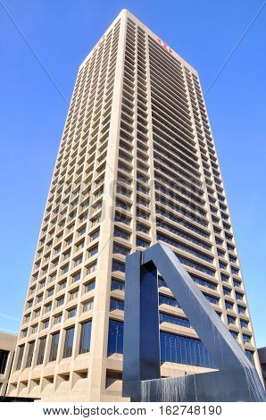 BUFFALO, NY, USA - JULY 22, 2011: One HSBC Center located in downtown Buffalo, New York State, USA. This is the tallest building in Buffalo since 1970.