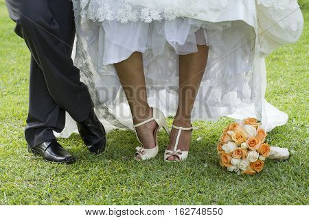 Wedding reception at a beach in Lima