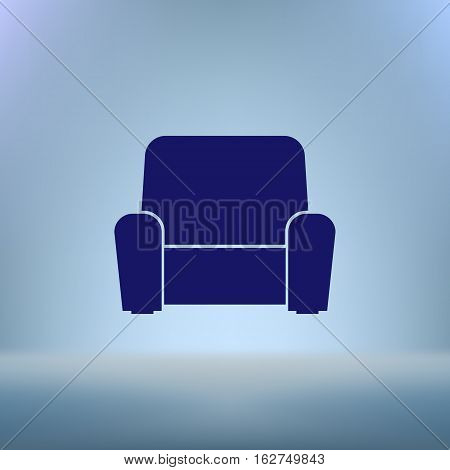 Flat Paper Cut Style Icon Of Furniture